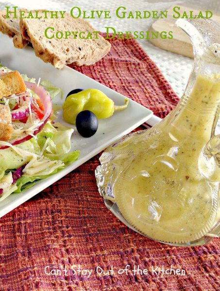 Healthy Olive Garden Salad Copycat Dressings - IMG_5794
