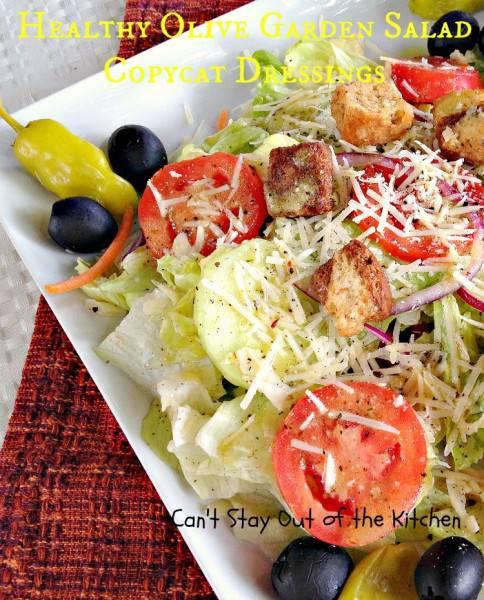 Healthy Olive Garden Salad Copycat Dressings - IMG_5798