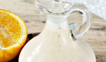 Healthy Orange Balsamic Salad Dressing