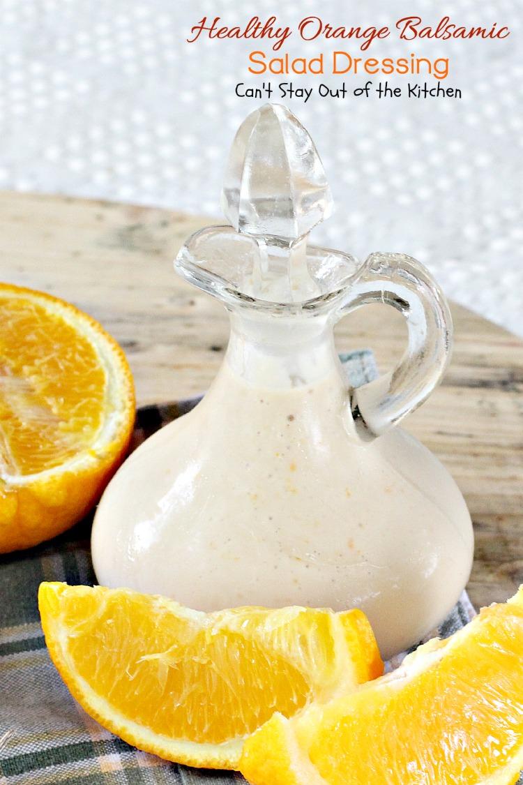 Healthy Orange Balsamic Salad Dressing