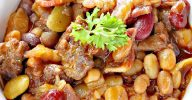 Hearty Cowboy Baked Beans | Can't Stay Out of the Kitchen