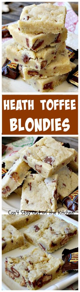 Heath Toffee Blondies | Can't Stay Out of the Kitchen