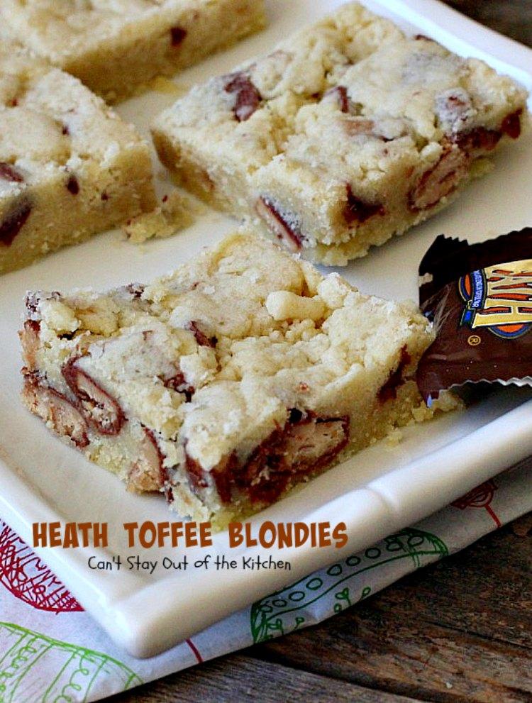 Heath Toffee Blondies