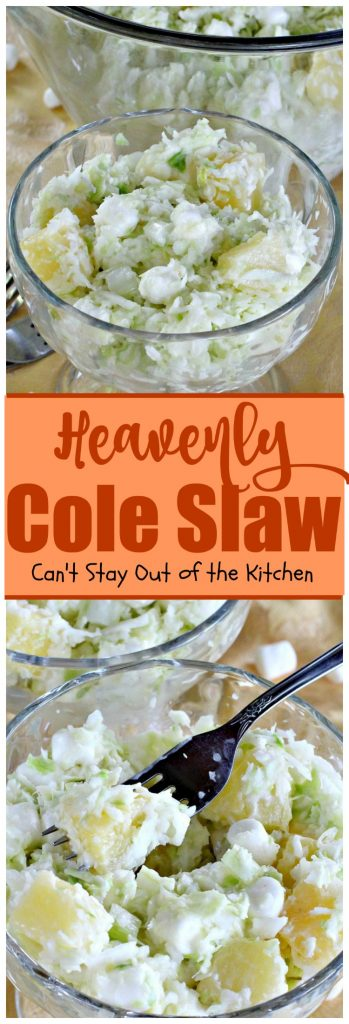 Heavenly Cole Slaw | Can't Stay Out of the Kitchen