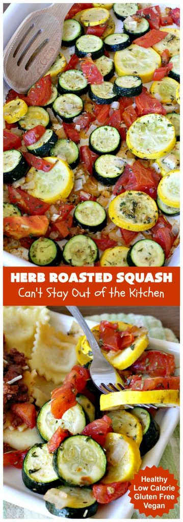 Herb Roasted Squash | Can't Stay Out of the Kitchen