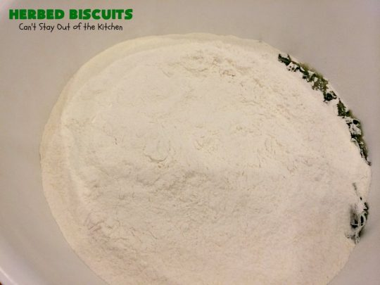 Herbed Biscuits | Can't Stay Out of the Kitchen | these homemade #biscuits puff up big and beautiful. With the addition of fresh herbs they are absolutely scrumptious. Perfect side dish for company, family or #holiday meals like #FathersDay. #bread #HerbedBiscuits