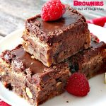 Hershey's Chocolate Nugget Brownies | Can't Stay Out of the Kitchen | these #brownies are awesome! They're filled with #Hershey's nuggets & topped with a #chocolate #fudge icing. Rich, decadent, amazing #dessert!