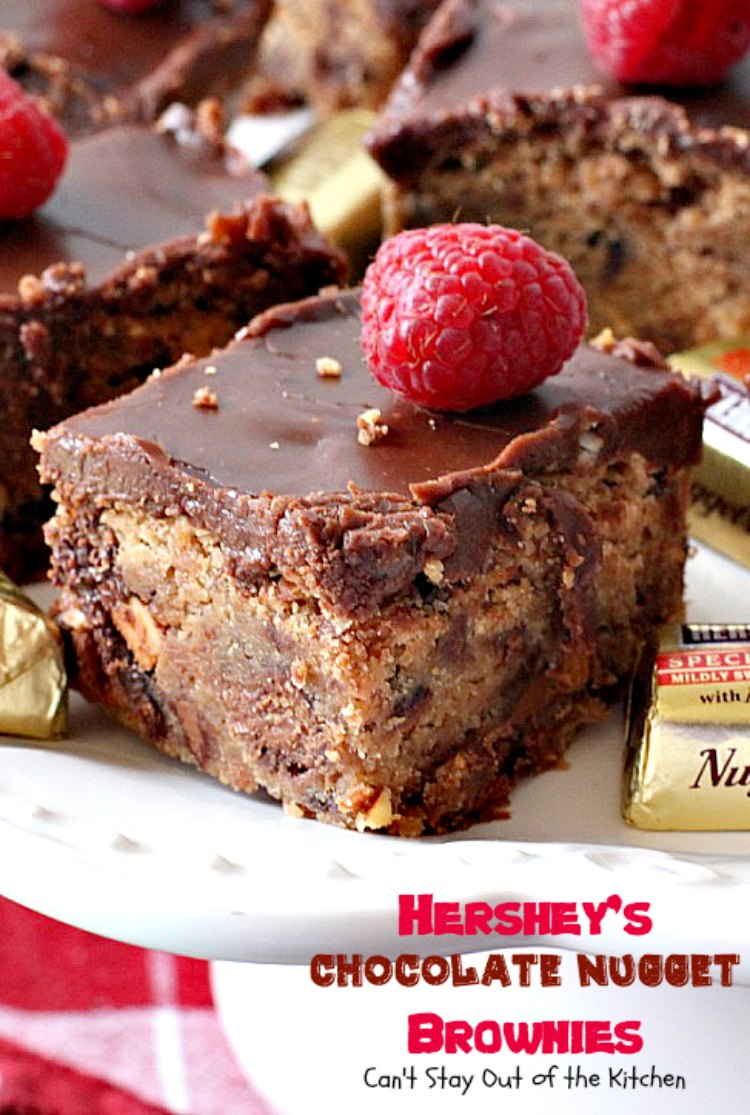 Hershey S Chocolate Nugget Brownies Can T Stay Out Of