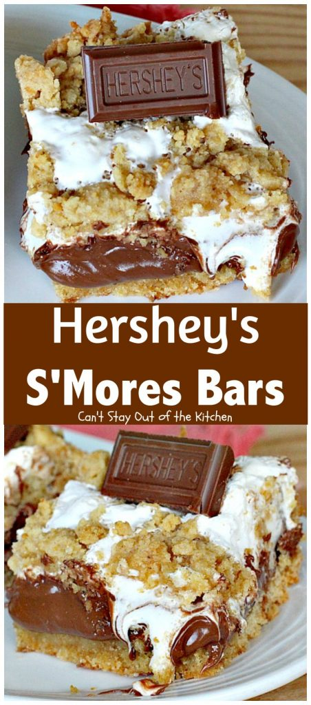 Hershey's S'Mores Bars | Can't Stay Out of the Kitchen