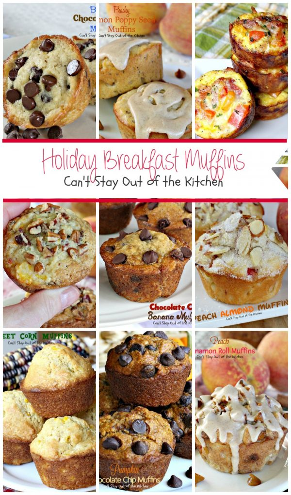 Holiday Breakfast Muffins | Can't Stay Out of the Kitchen | 32 great #muffin recipes for a #holiday #breakfast!