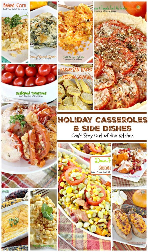 Holiday Casseroles and Side Dishes Collage