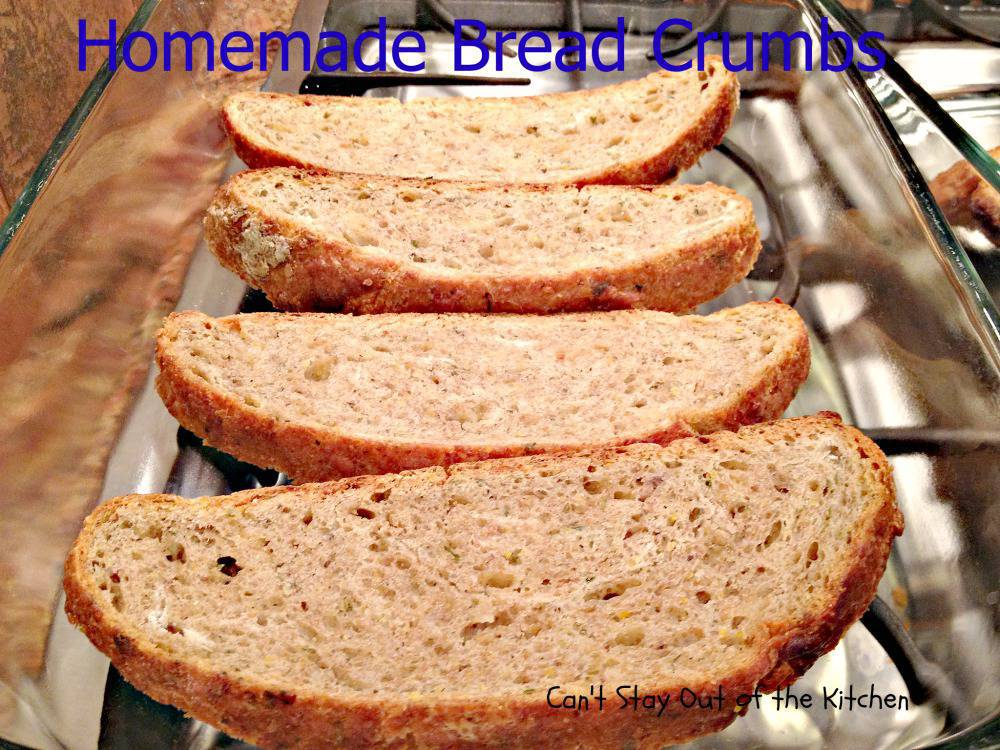 how to make bread crumbs out of bread