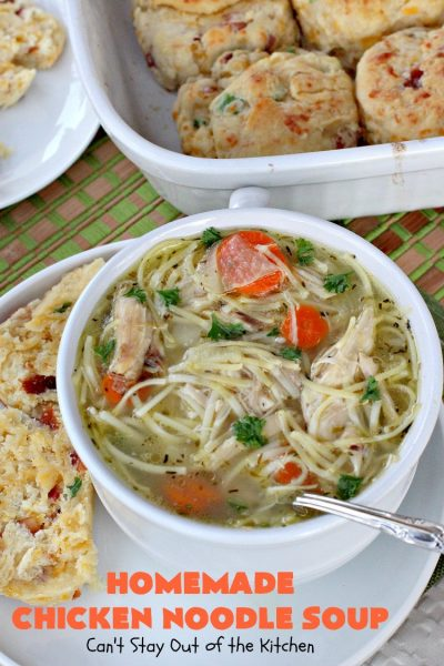 Homemade Chicken Noodle Soup | Can't Stay Out of the Kitchen | this fantastic #chicken #soup is good for what ails ya! It's so easy and delicious & the perfect comfort food for fall. #chickennoodlesoup #chickensoup #noodles