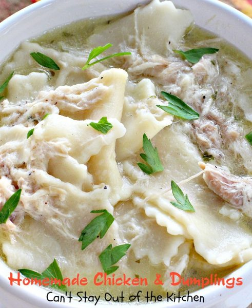 Homemade Chicken & Dumplings | Can't Stay Out of the Kitchen