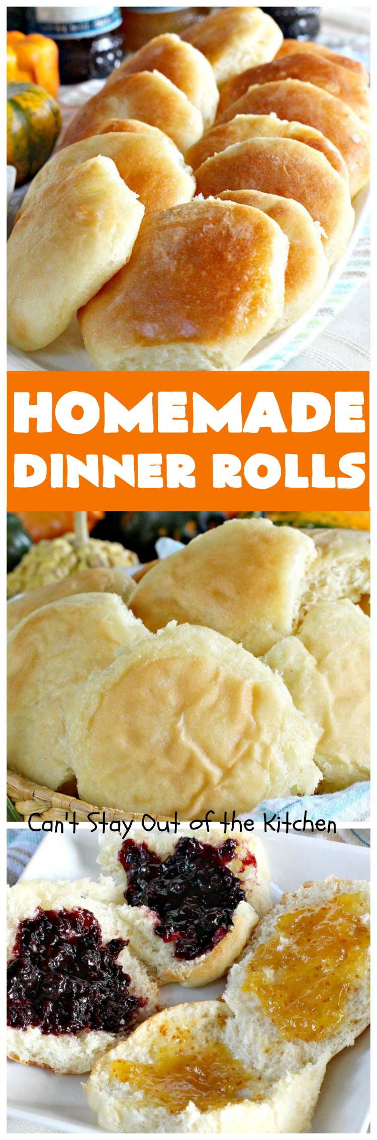 Homemade Dinner Rolls | Can't Stay Out of the Kitchen