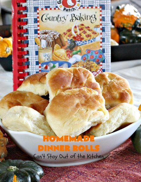 Homemade Dinner Rolls | Can't Stay Out of the Kitchen | these easy #GooseberryPatch #dinnerrolls are fantastic. There's no kneading & you refrigerate the dough overnight. They're perfect for company or #holidays like #Thanksgiving or #Christmas. #bread