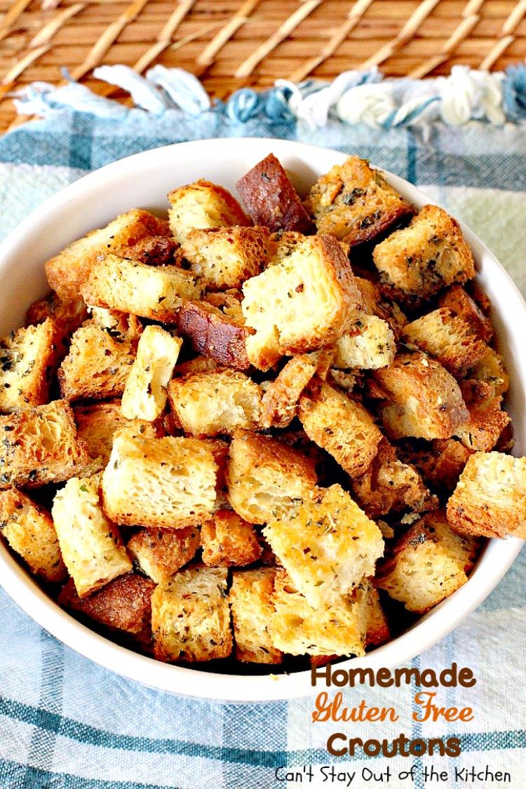 Homemade Gluten Free Croutons