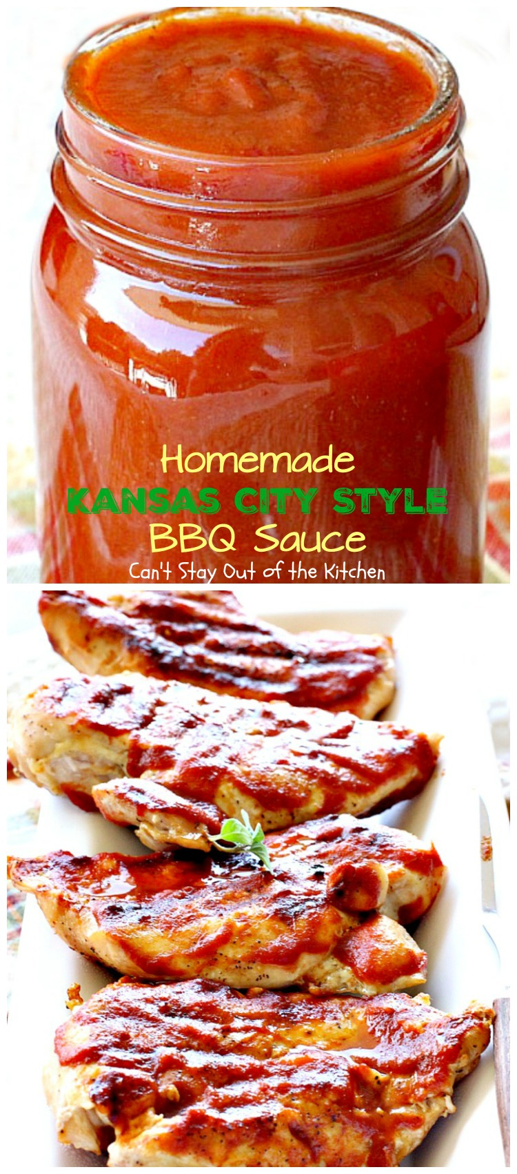 Homemade Kansas City Style BBQ Sauce - Can't Stay Out of ...