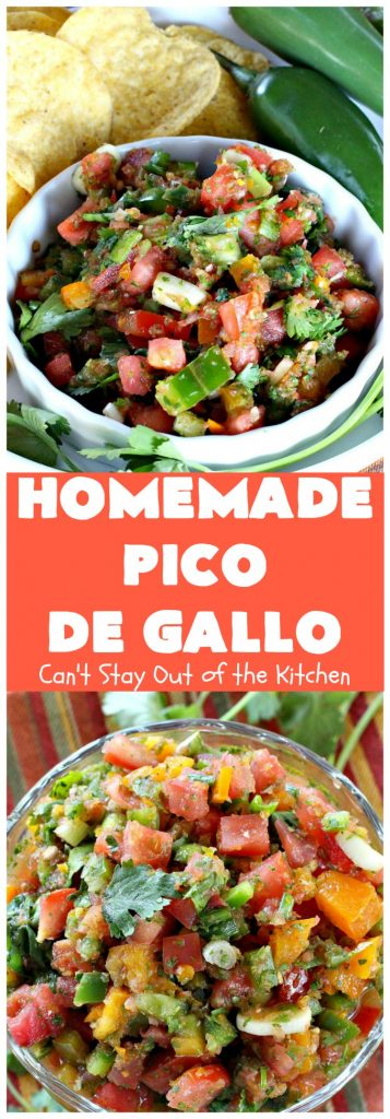 Homemade Pico de Gallo | Can't Stay Out of the Kitchen