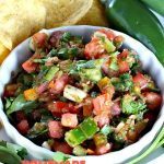 Homemade Pico de Gallo | Can't Stay Out of the Kitchen | fantastic #TexMex #appetizer. It's also terrific served over grilled chicken and fish or with salads, burritos or other #Mexican entrees. #GlutenFree #PicoDeGallo