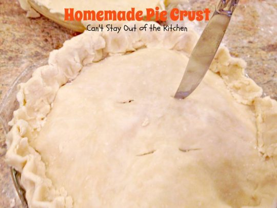 "Homemade Pie Crust | Can't Stay Out of the Kitchen | BEST, flakiest, ""from-scratch,"" recipe for #piecrust. Step-by-step pictures on making #homemade pie dough. #pies #dessert"