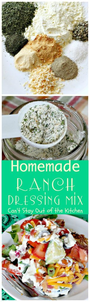 Homemade Ranch Dressing Mix | Can't Stay Out of the Kitchen