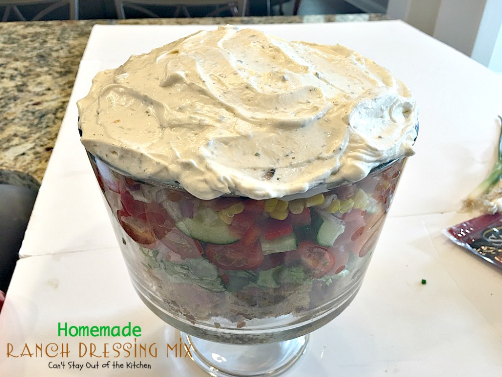 Homemade Ranch Dressing MixCant Stay Out of the Kitchen