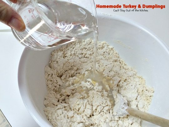 Homemade Turkey & Dumplings | Can't Stay Out of the Kitchen | my kid's favorite #soup when they were growing up. Succulent & delicious way to eat leftover #turkey. This one has step-by-step instructions for making homemade dumpling #noodles.