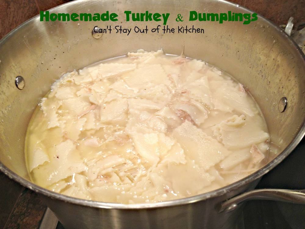 ... , and parsley to my turkey and dumplings, or chicken and dumplings