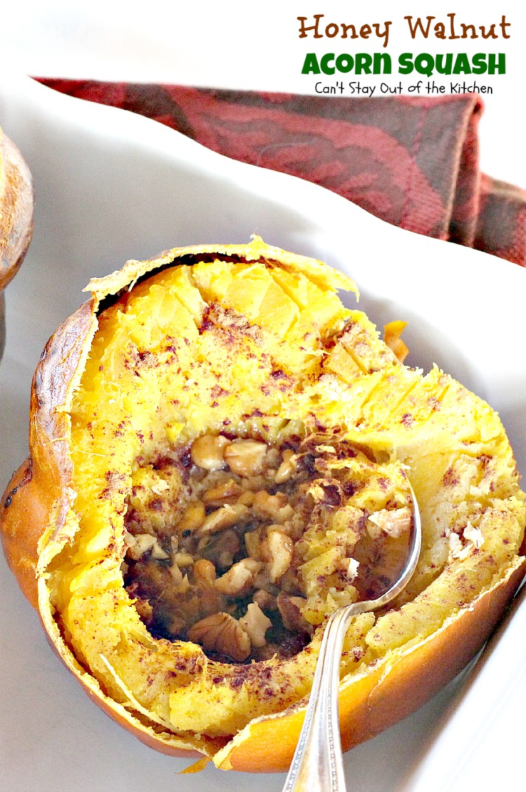 Honey Walnut Acorn Squash | Can't Stay Out of the Kitchen