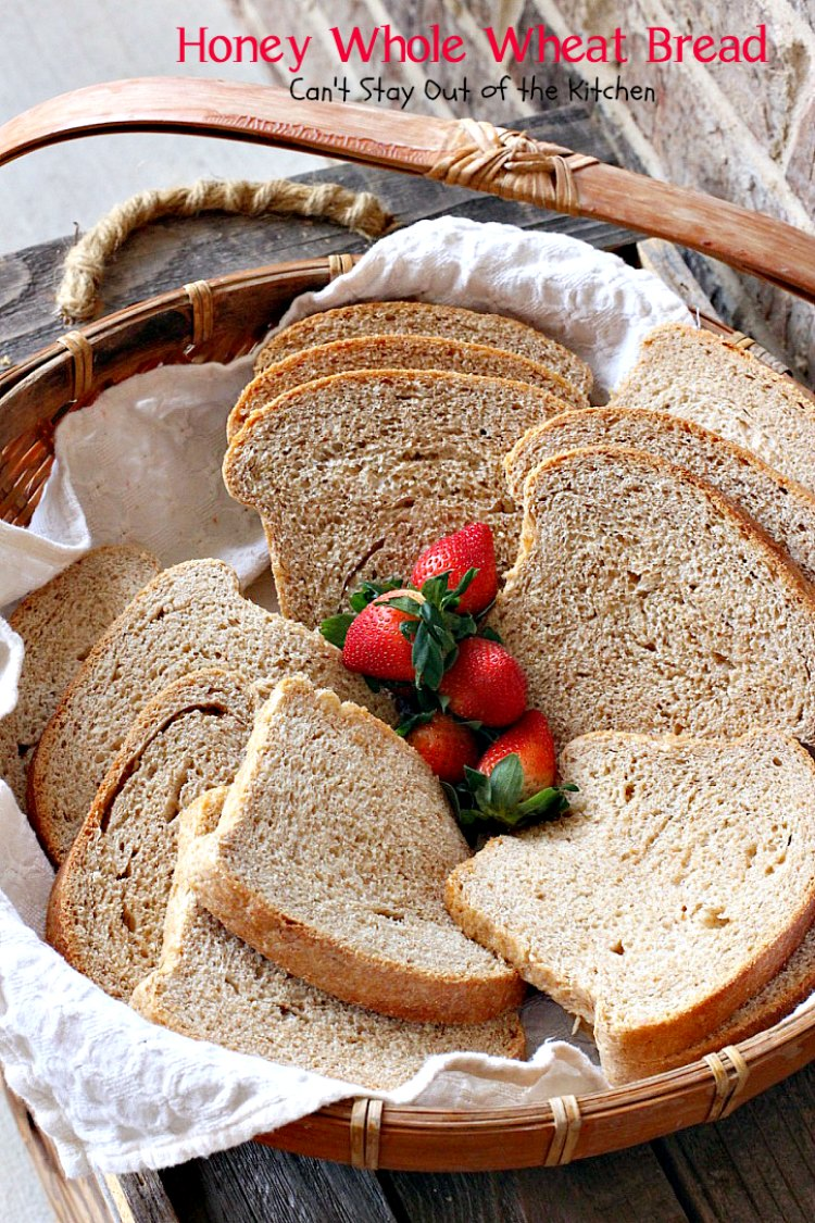 Honey Whole Wheat Bread   Can't Stay Out of the Kitchen   our favorite homemade #bread recipe. It's absolutely delicious. #wholewheat