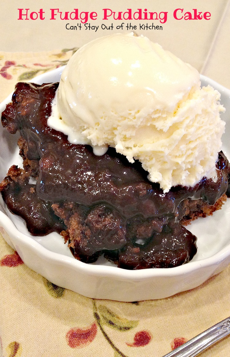 ... -type dessert.We like Hot Fudge Pudding Cake served with ice cream