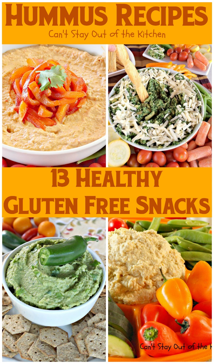 Hummus Recipes | Can't Stay Out of the Kitchen | 13 healthy, low calorie #glutenfree snacks. Most are also #vegan.