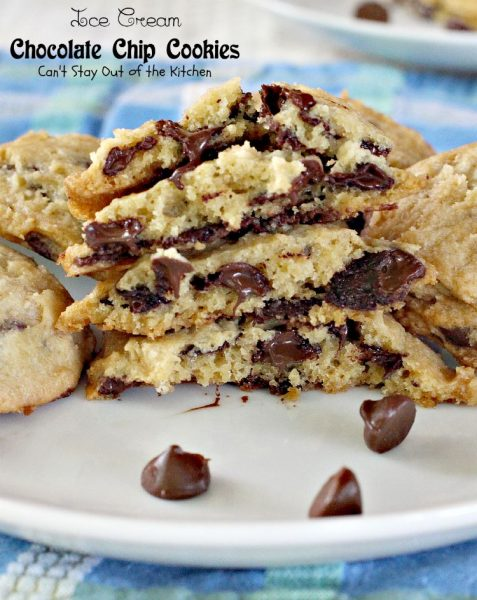 Ice Cream Chocolate Chip Cookies | Can't Stay Out of the Kitchen | these sensational #cookies have #icecream in the batter! #chocolate #dessert