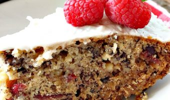 Iced White Chocolate Cranberry Coffeecake