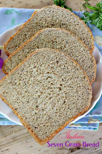 Italian Seven Grain Bread | Can't Stay Out of the Kitchen | this quick and easy homemade #bread makes a 2-lb. loaf in the #breadmaker.