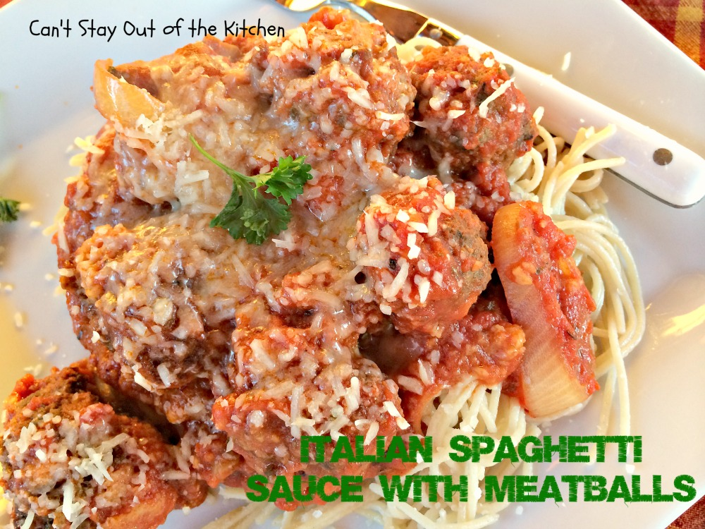 Italian Spaghetti Sauce with Meatballs is so easy when you make it in ...