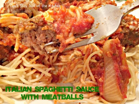 Italian Spaghetti Sauce with Meatballs is absolutely wonderful! Even ...