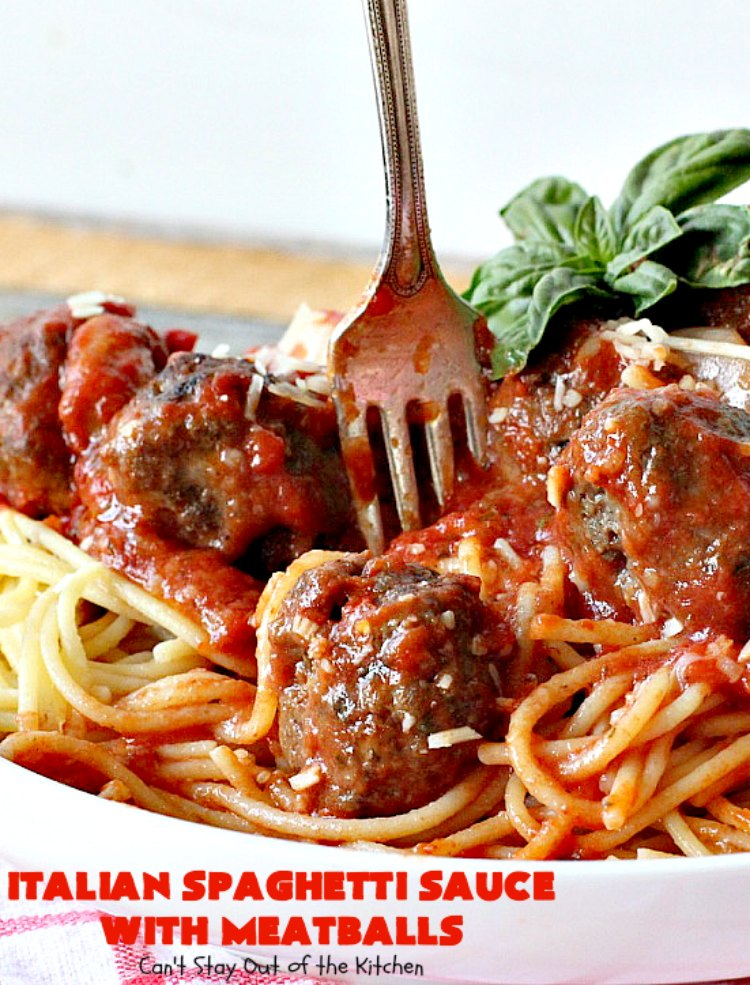 italian spaghetti sauce with meatballs can 39 t stay out of the kitchen. Black Bedroom Furniture Sets. Home Design Ideas