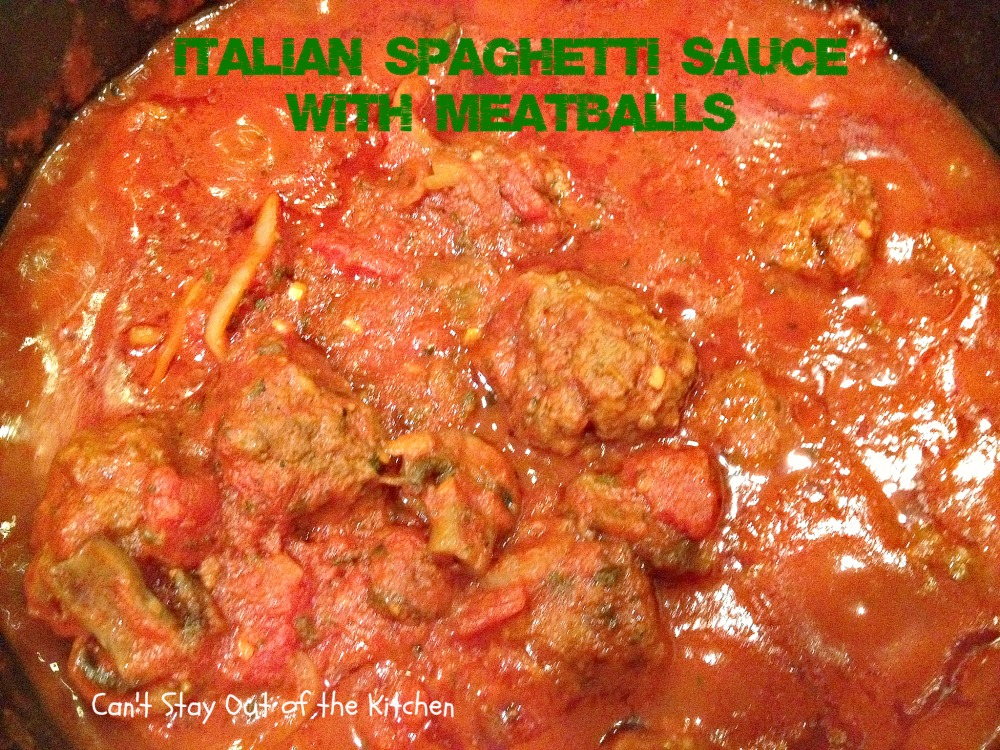 Italian Spaghetti Sauce with Meatballs - Recipe Pix 4 075