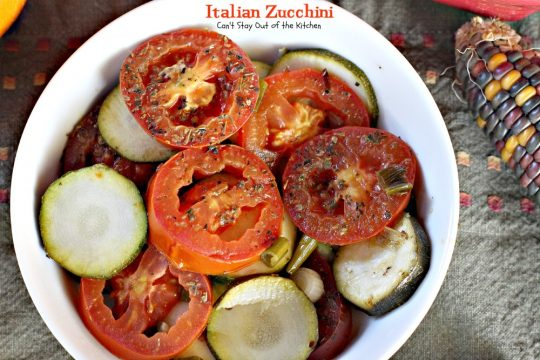 Italian Zucchini | Can't Stay Out of the Kitchen | easy  and tasty #sidedish with #zucchini and #tomatoes. #glutenfree #vegan #Italian
