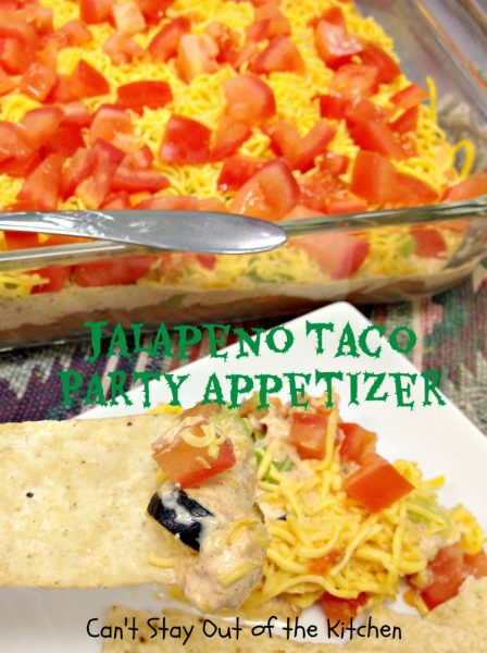 Jalapeno Taco Party Appetizer | Can't Stay Out of the Kitchen