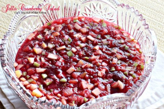 Jello Cranberry Salad | Can't Stay Out of the Kitchen | this festive and beautiful congealed #salad is wonderful for the #holidays. #glutenfree #cranberries #pineapple #apples