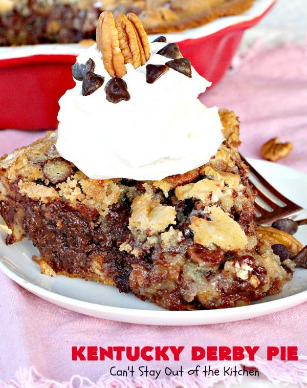 Kentucky Derby Pie | Can't Stay Out of the Kitchen | this fantastic #pie contains #chocolatechips & #pecans. It's absolutely amazing. #chocolate #dessert #KentuckyDerby