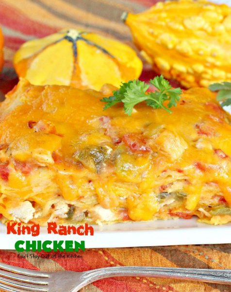 King Ranch Chicken | Can't Stay Out of the Kitchen | Amazing #Tex-Mex dish that's perfect for company or potluck dinners. #chicken
