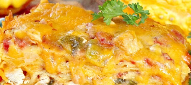 King Ranch Chicken   Can't Stay Out of the Kitchen   one of our favorite #Tex-Mex #casseroles. This one is layered with corn #tortillas, an amazing #chicken layer and cheese.