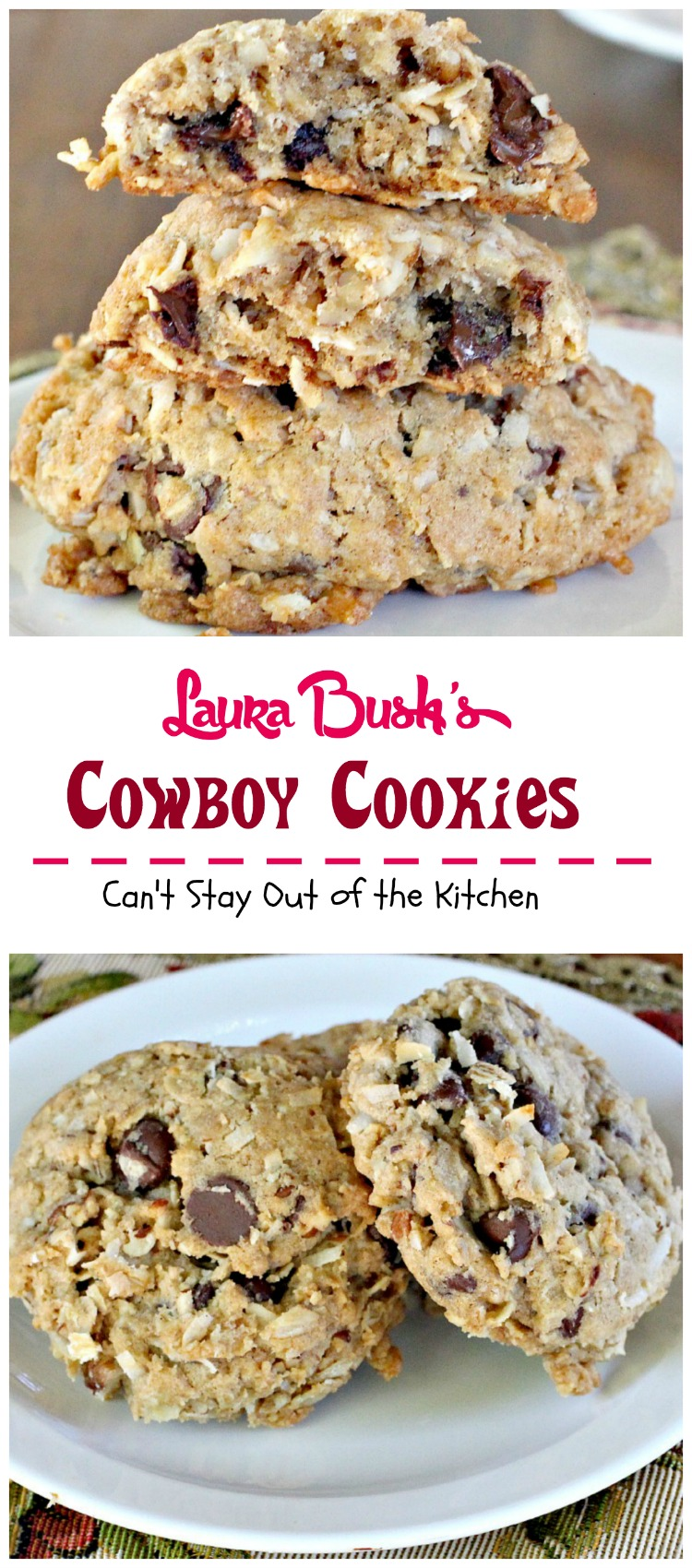 recipe: cowboy oatmeal cookies [34]
