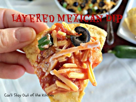 Layered Mexican Dip - IMG_0467