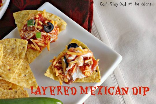 Layered Mexican Dip - IMG_6861