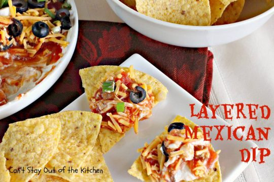 Layered Mexican Dip - IMG_6862